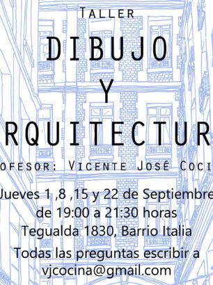 afiche taller dibujo y arquitectura